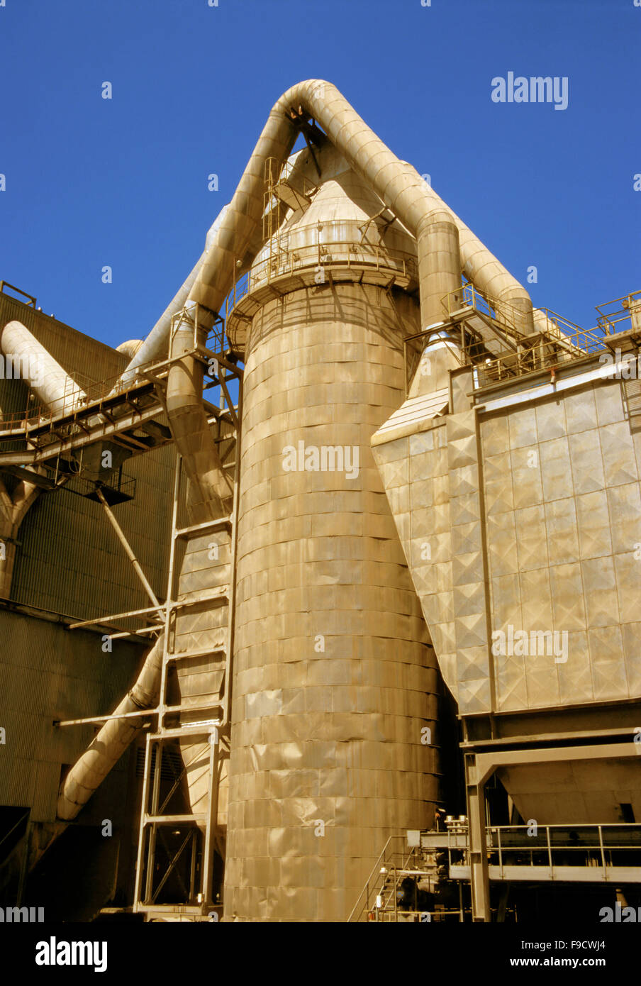 Cement Factory Closely - Stock Image