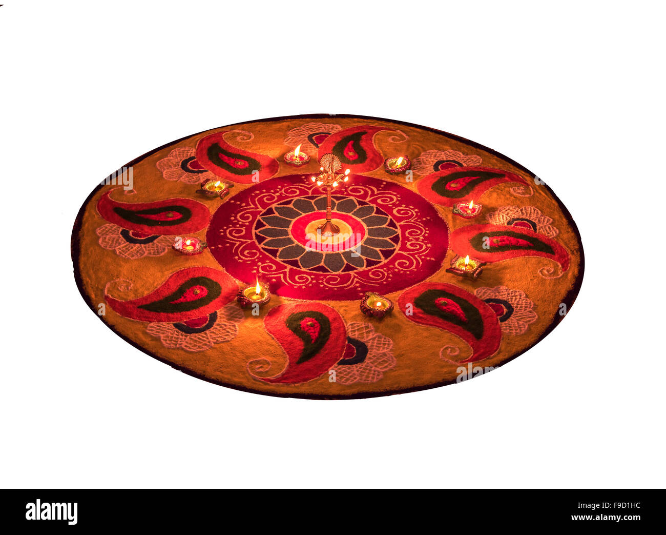 Rangoli Traditional way of decorating corridors and open veranda on auspicious occasion or to welcome guest Stock Photo