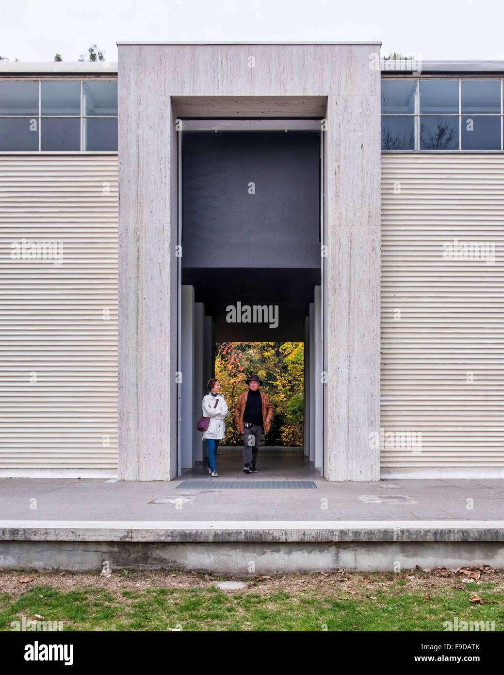 Pavilion entrance at the Giardini section of the 2015 56th Venice Biennale curated by Okwui Enwezor - Stock Image