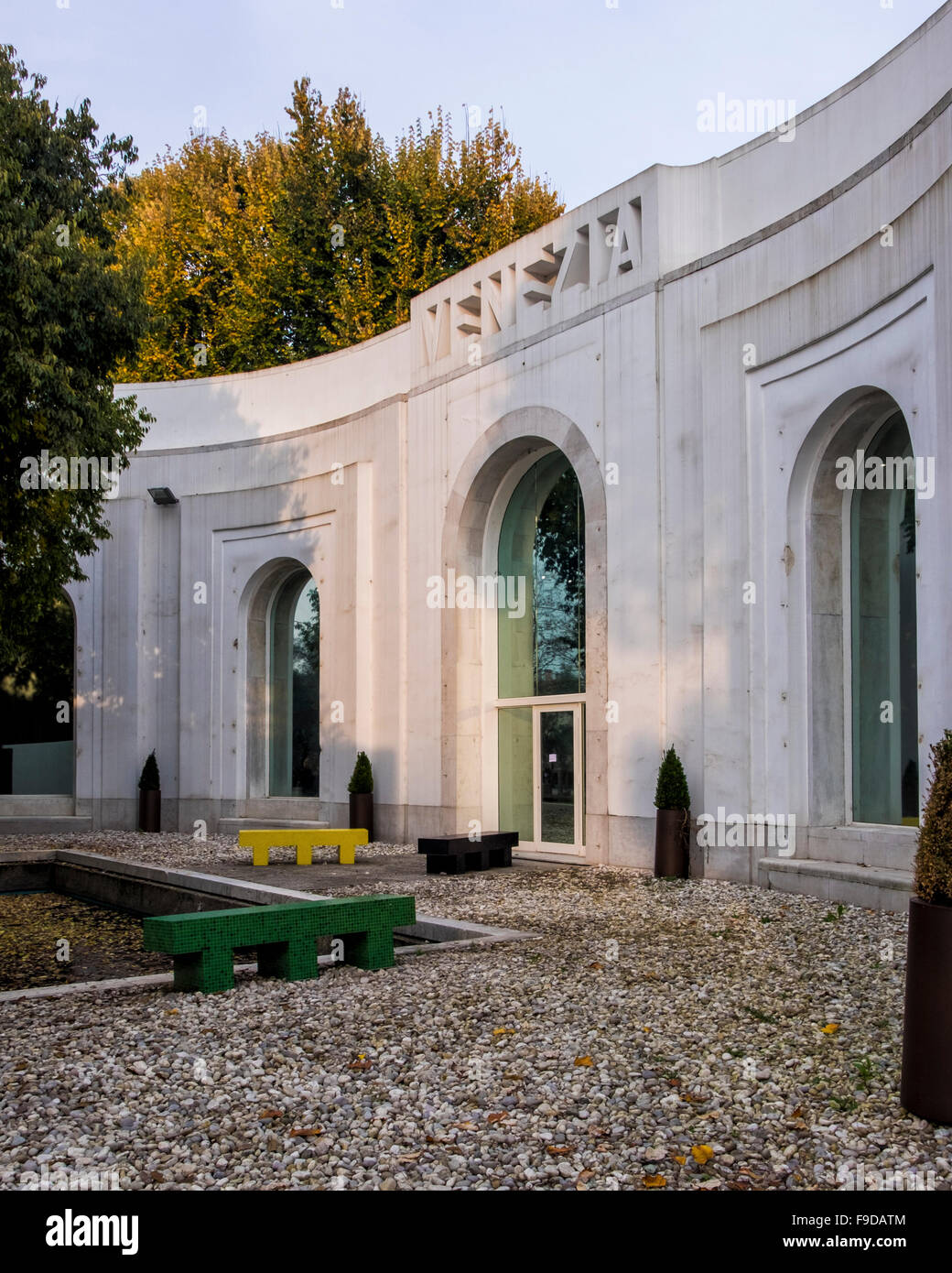 Venetian Pavilion exterior facade and entrance at the 2015 56th Venice Biennale - Stock Image
