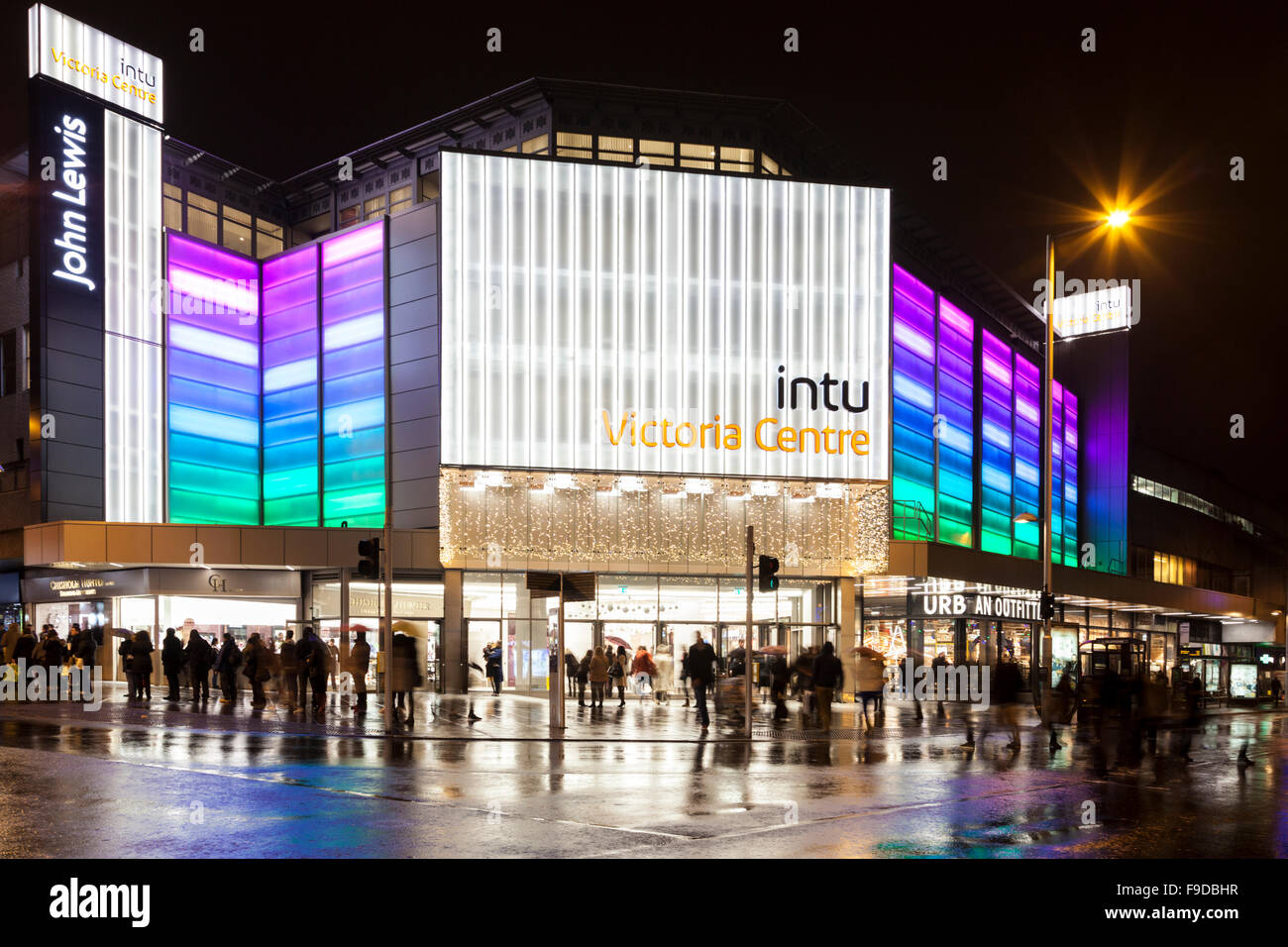 intu Victoria Centre open for late night shopping, Nottingham, England, UK - Stock Image