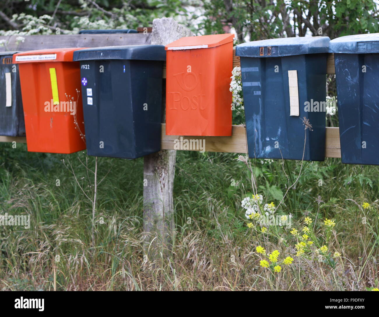 Row of Mailboxes - Stock Image