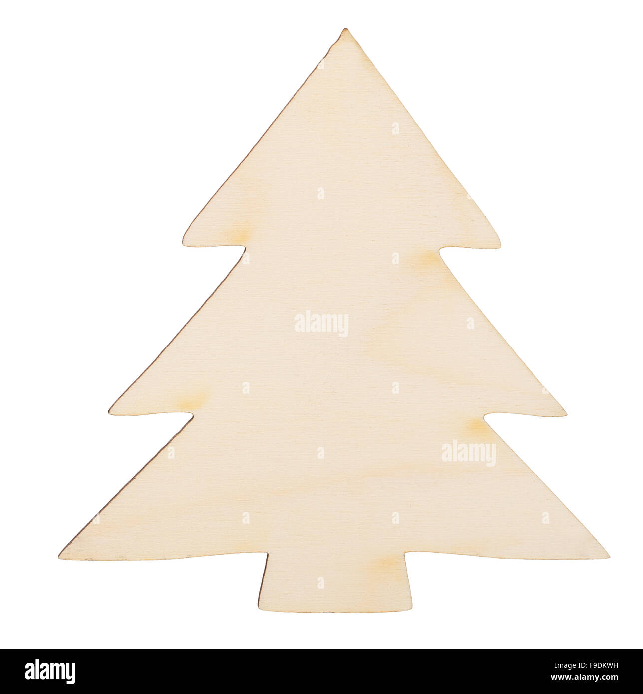 a919350cfa612 Christmas tree shape made of wood decoration isolated on white background