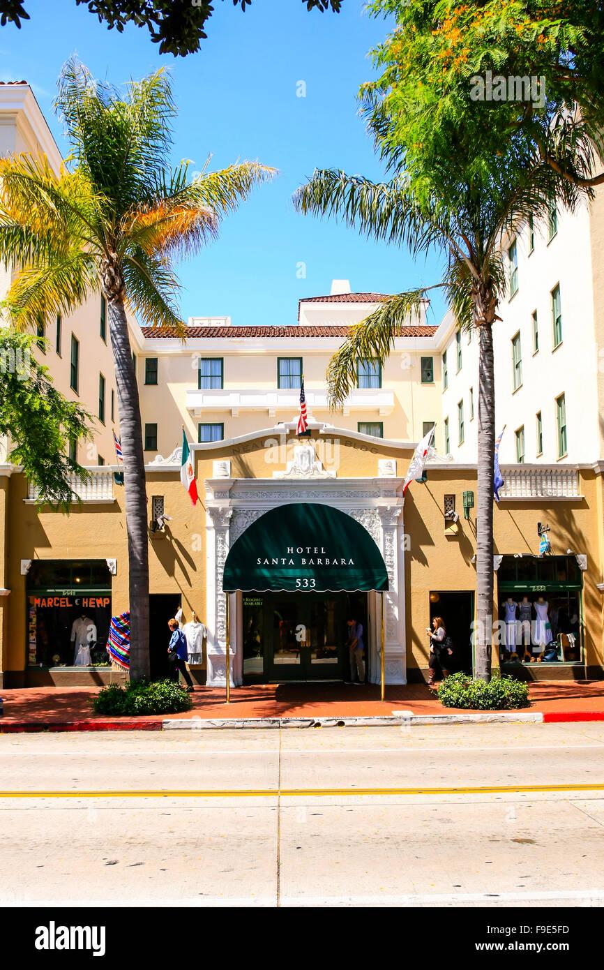 Hotel Santa Barbara On State St In Downtown Santa Barbara California Stock Photo Alamy