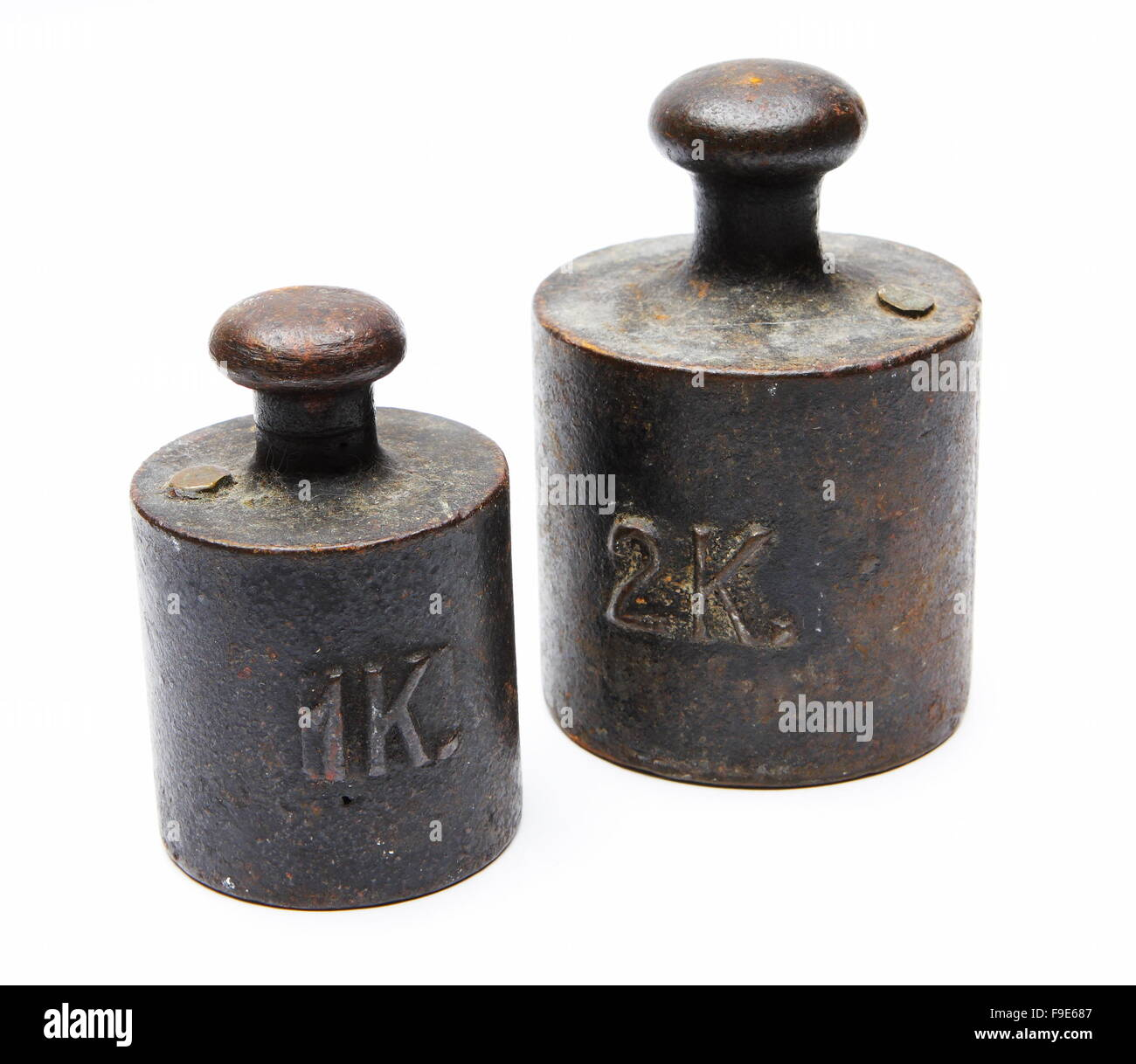 One And Two Kg Weights - Stock Image