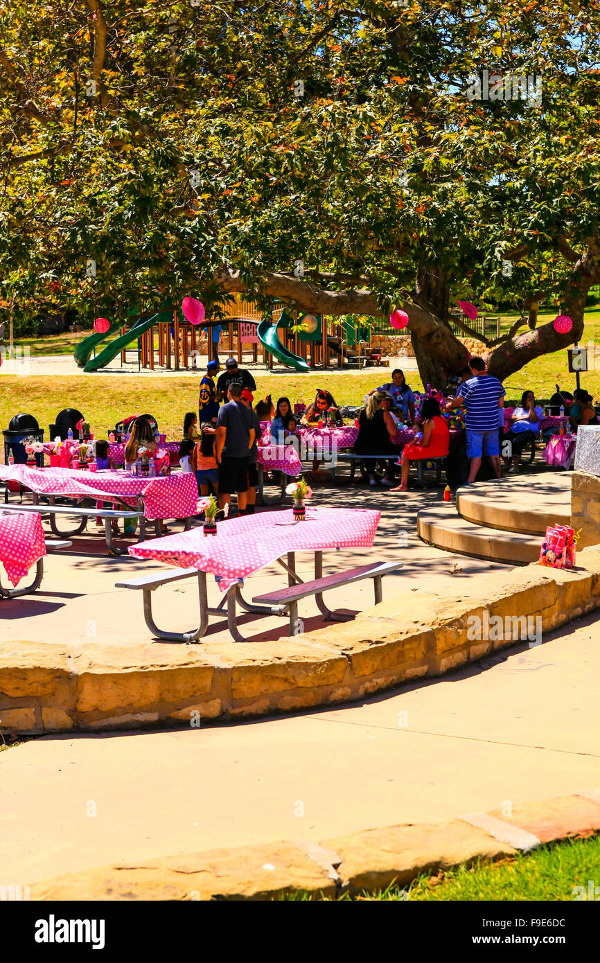 Pink Birthday Party In The Park For A Little Girl In Santa