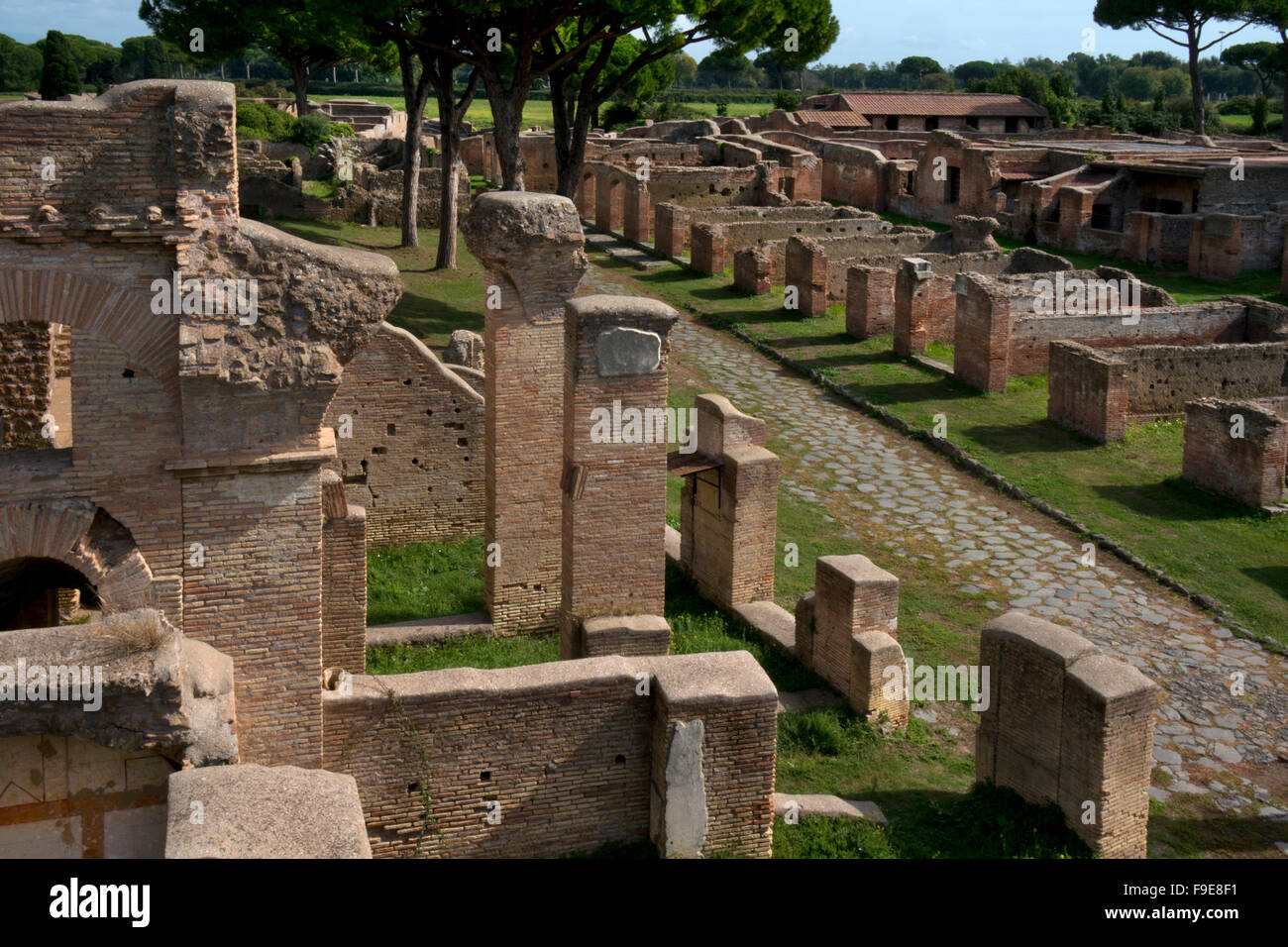 Ancient Roman port of Ostia, near Rome, Italy, Europe - Stock Image