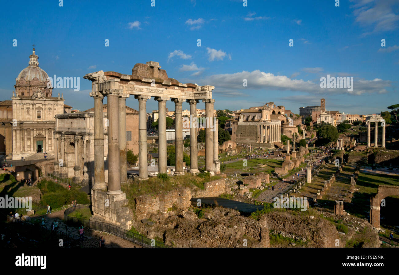 The Roman Forum,Rome,Italy - Stock Image