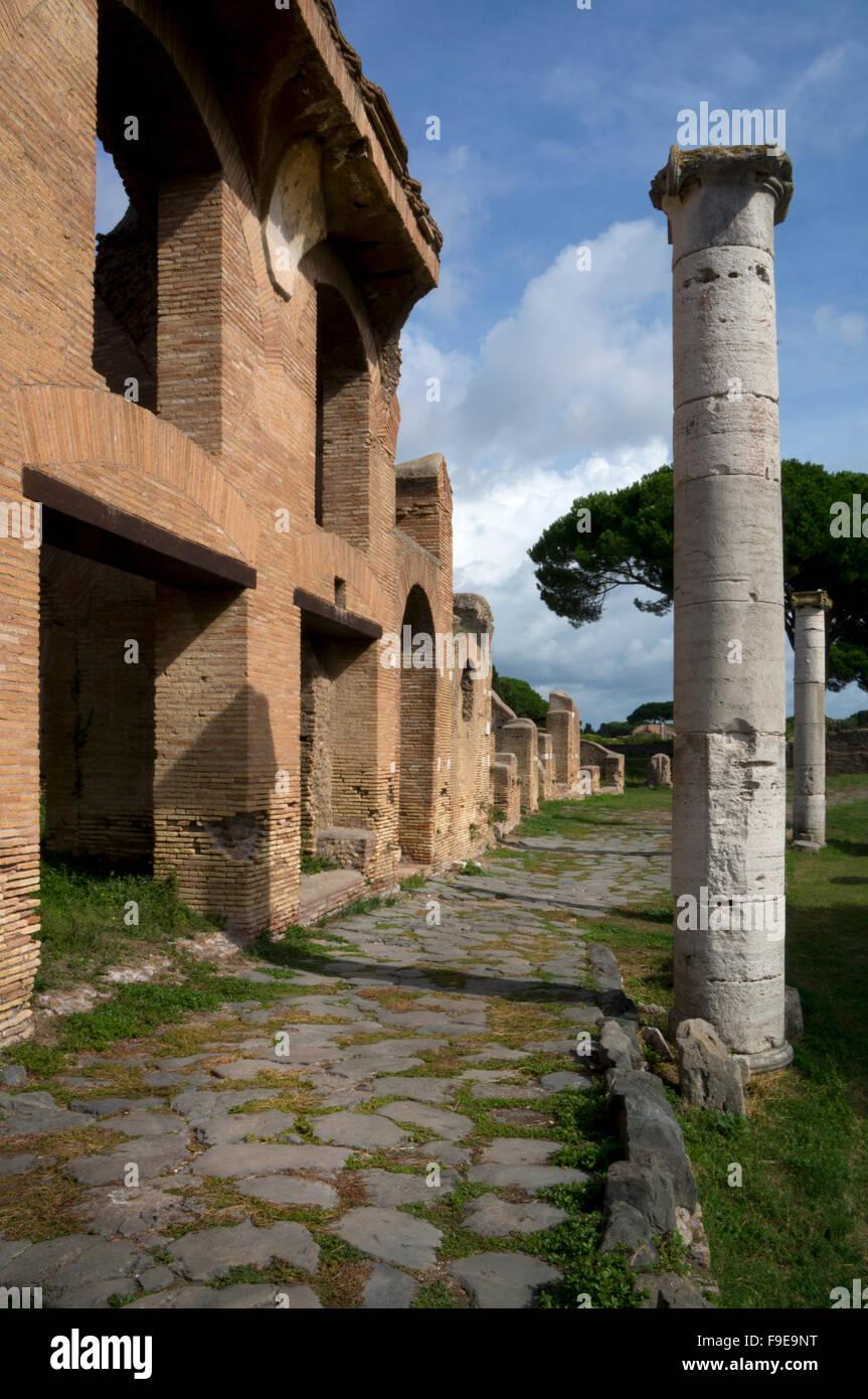 Ancient Roman port of Ostia, near Rome, Italy, Europe - Stock Image