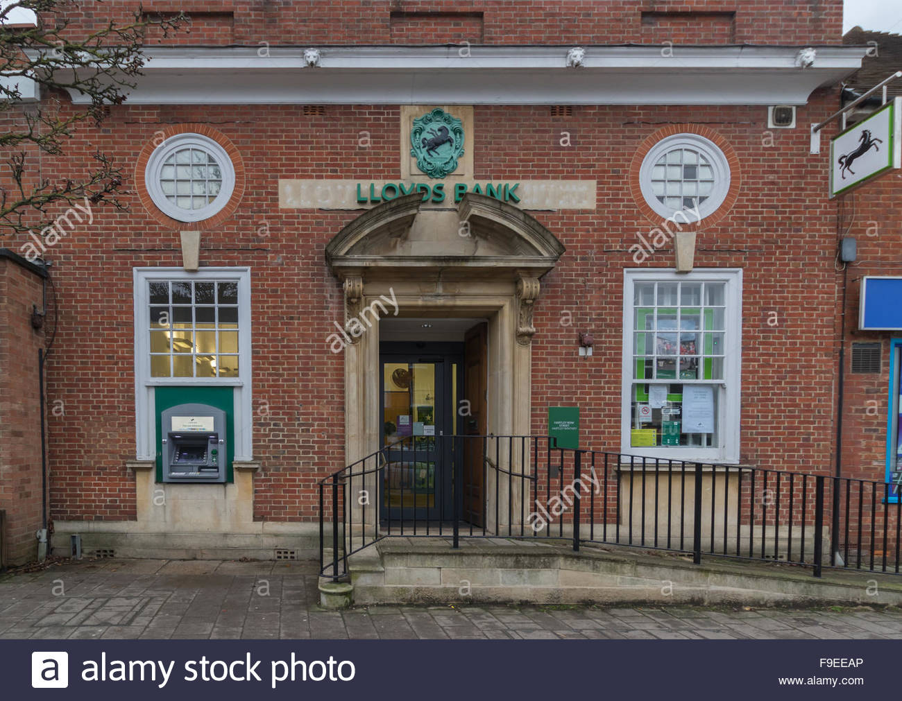 Lloyds Bank branch in the village of Hartley Wintney, Hampshire. The last bank in the village, it will close in - Stock Image