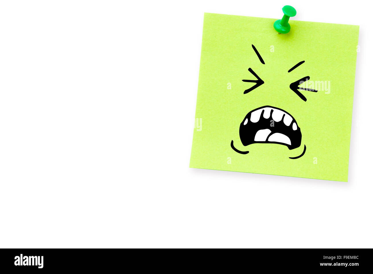 Composite image of angry face - Stock Image