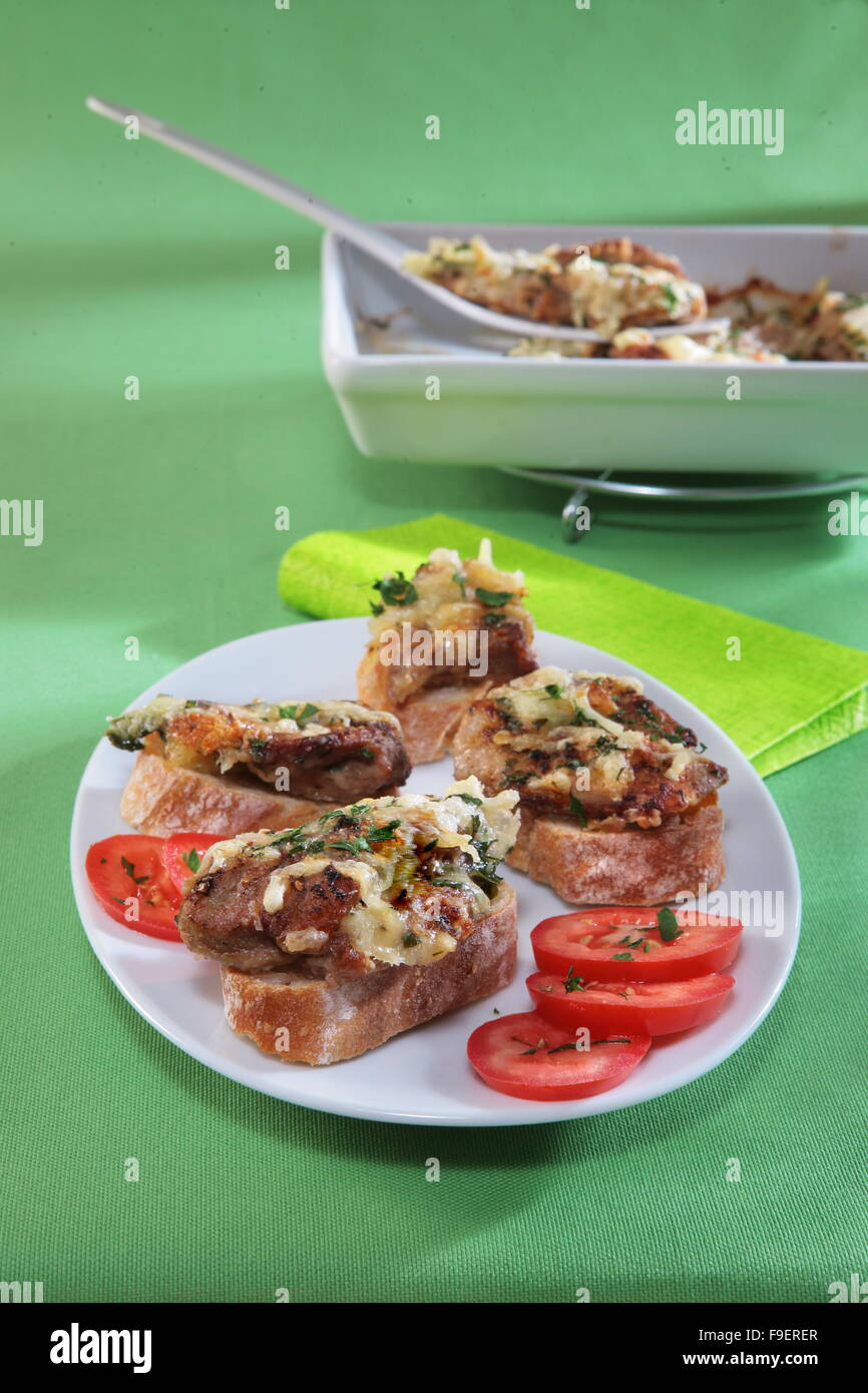Gratinated Veal - Stock Image