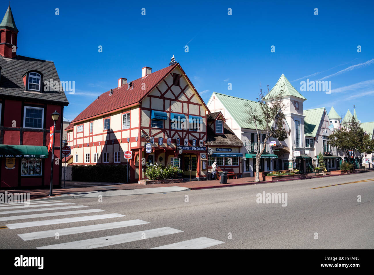 Bit O' Denmark, Alisal Road, Solvang, Ynez Valley, Santa Barbara County, California, USA. - Stock Image