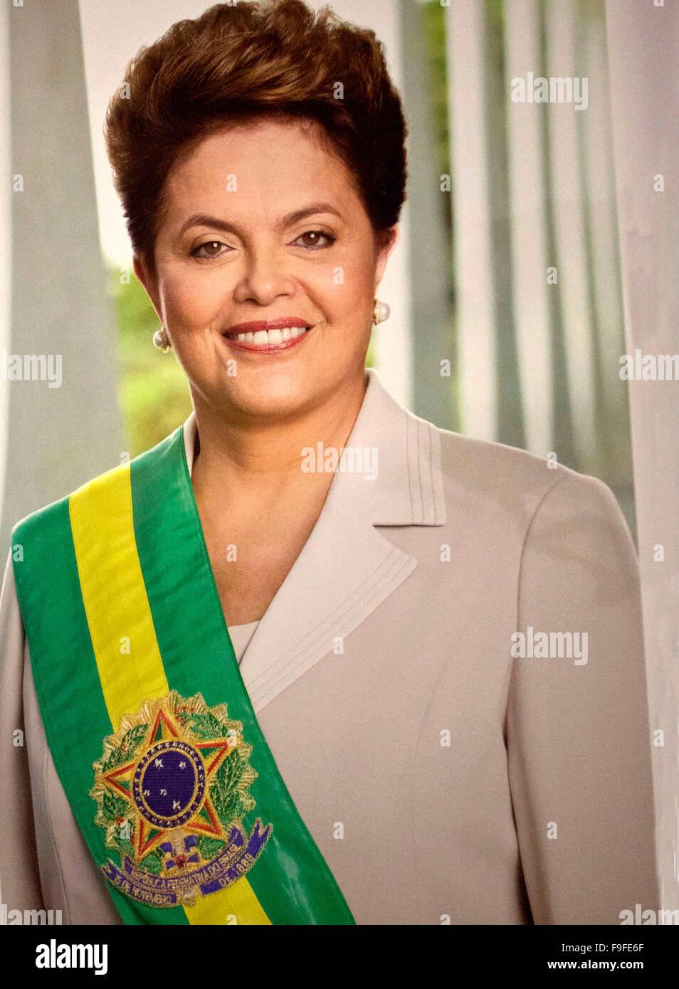 Bresil,  portrait de Dilma ROUSSEF presidente du Bresil - Stock Image