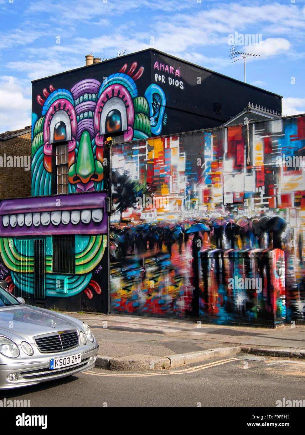 Camden Market Graffiti Stock Photos & Camden Market Graffiti Stock on