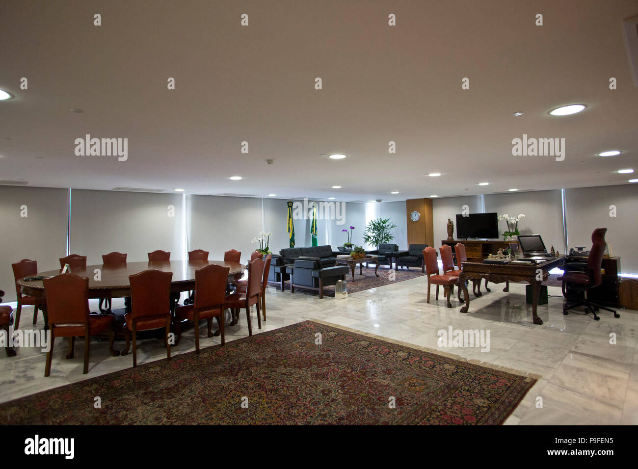Brasilia, Presidential palace, office of Dilma Rousseff - Stock Image