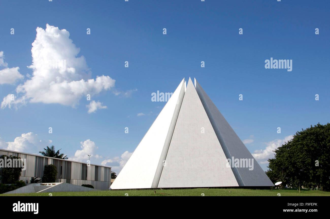 Brasilia, temple da Boa Vontade, temple of Good Will - Stock Image