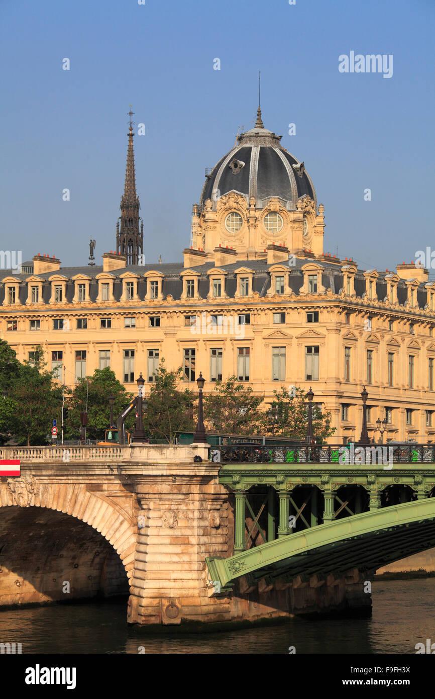 France Paris Ile de la Cité Tribunal de Commerce Pont Notre-Dame - Stock Image