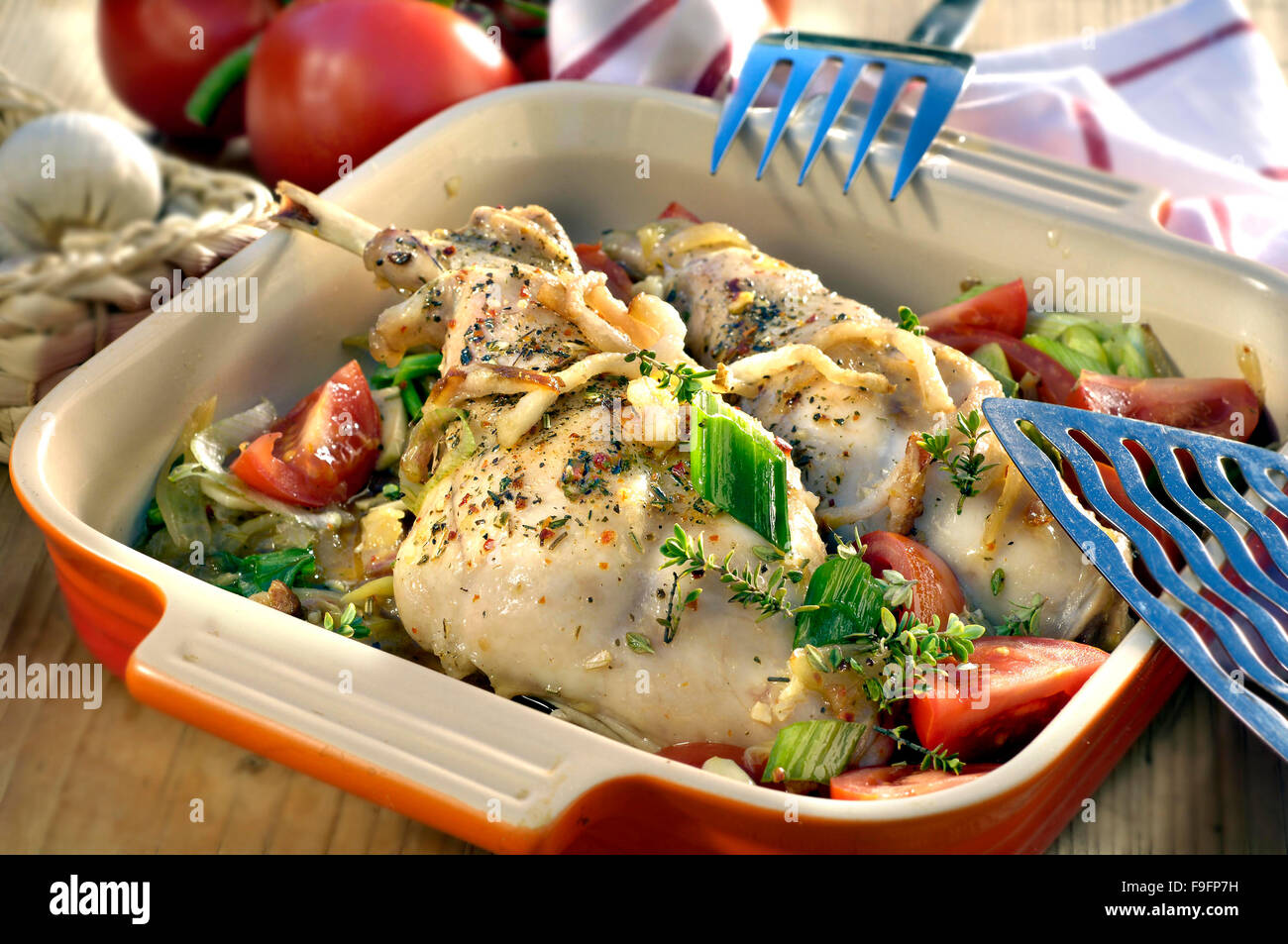 Rabbit in the oven in sour cream - tasty, fast, healthy 7