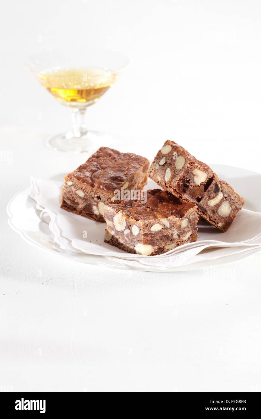 Traditional Italian Christmas Panforte Cake Stock Photos ...