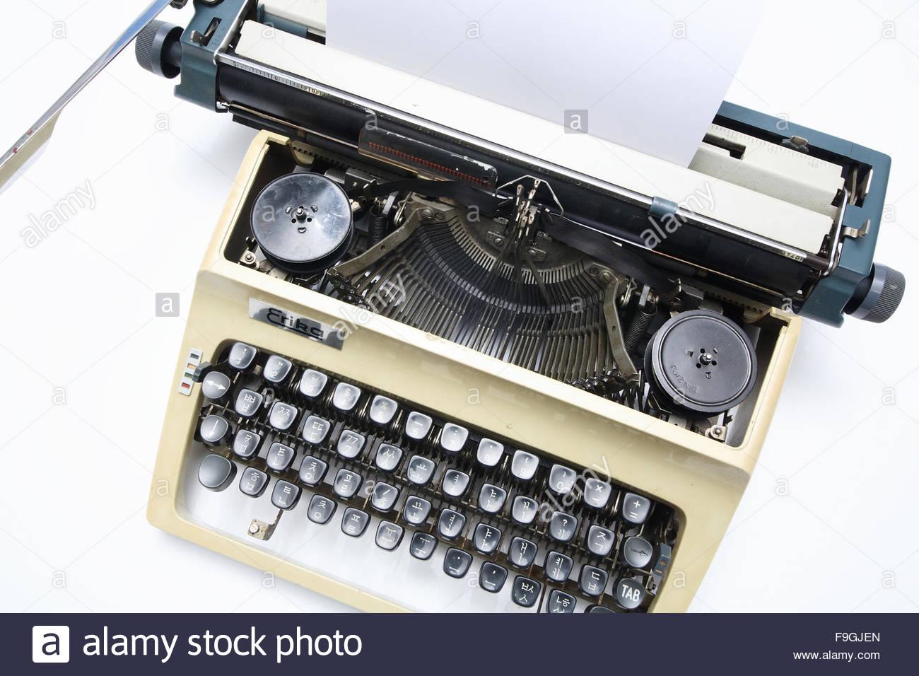 an old typewriter Stock Photo
