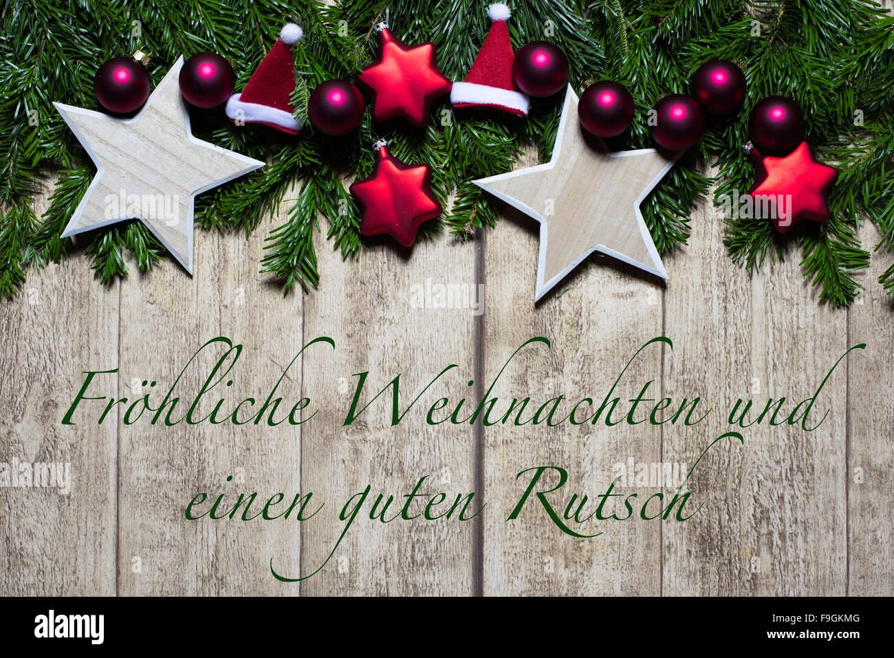 Weihnachtskarte Stock Photo