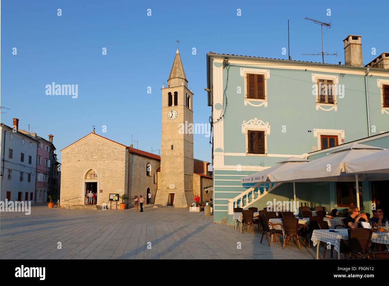 St. Cosmas und Damian parish church, Fažana, Fasana, Istria, Croatia - Stock Image