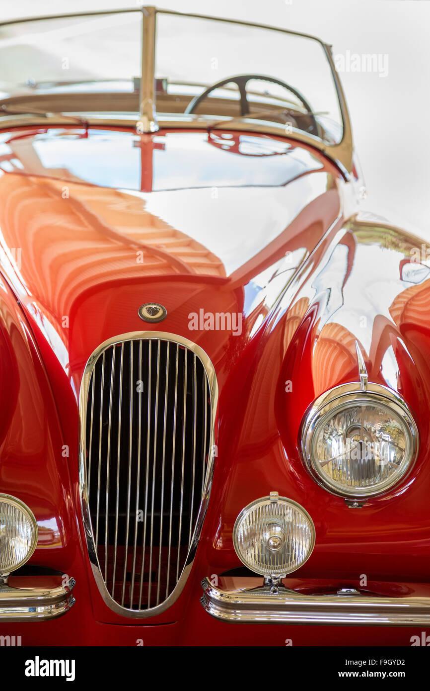 1949 red Jaguar - Stock Image