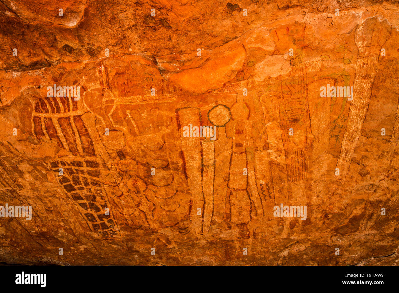 Grand Canyon Polychrome Rock Art, National Park, Arizona  Ancient prictographs up to 8,000 years old - Stock Image