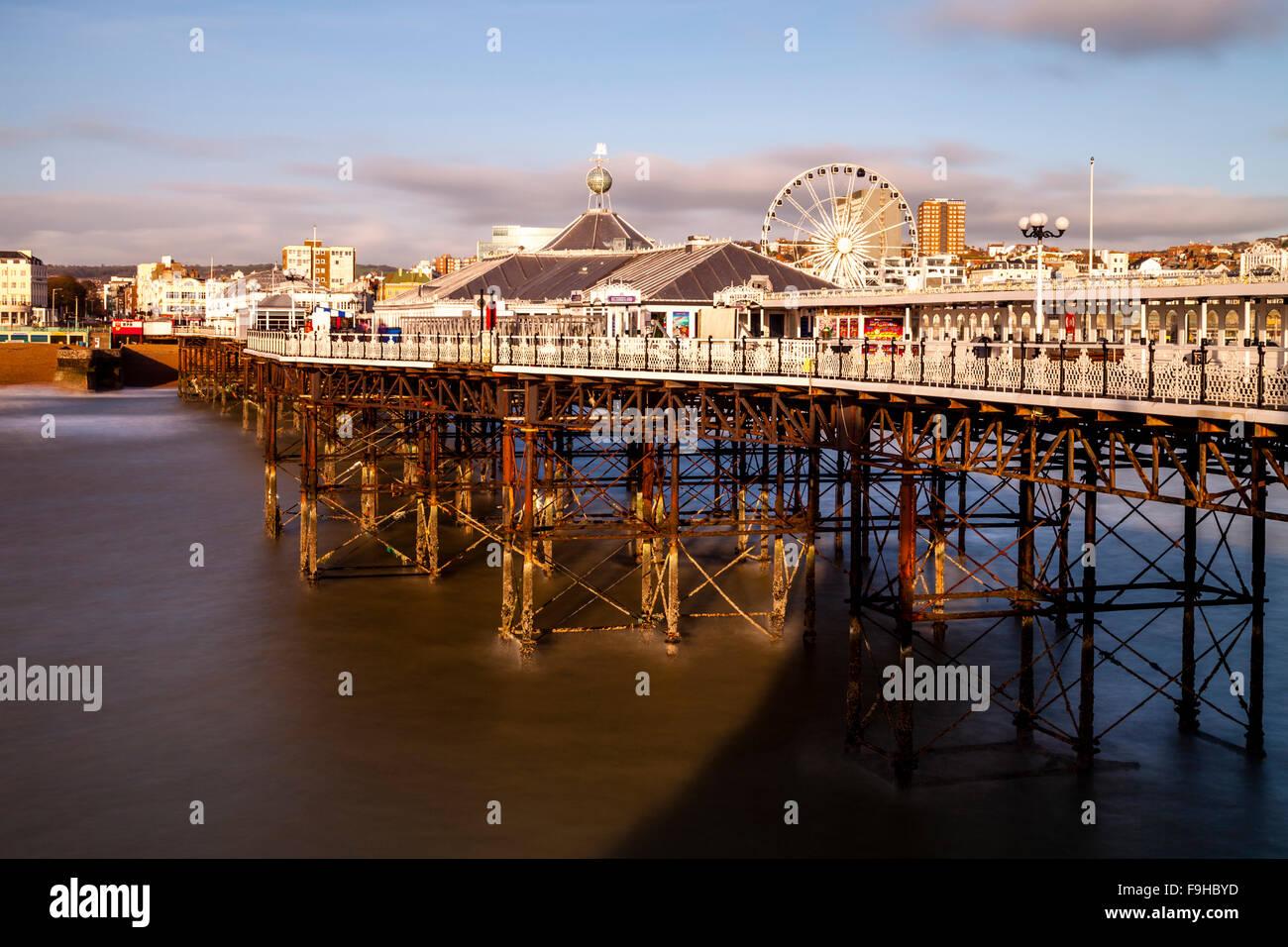 Brighton Pier, Brighton, Sussex, UK - Stock Image