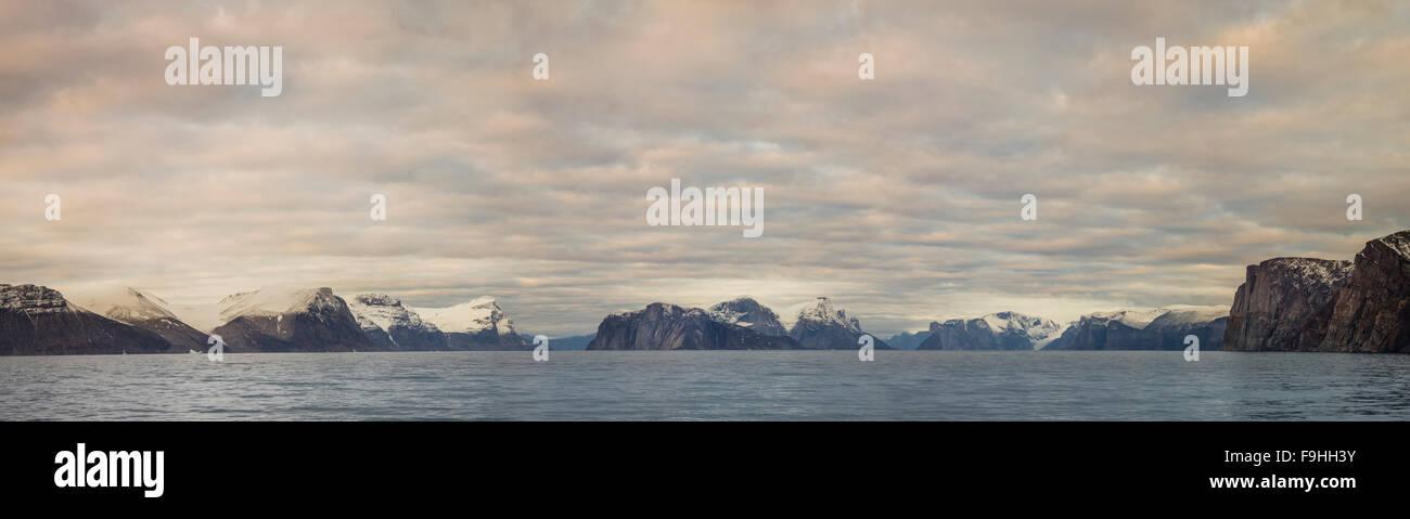 BUCHAN GULF NORTHEAST FJORDS  BAFFIN ISLAND   CANADA - Stock Image