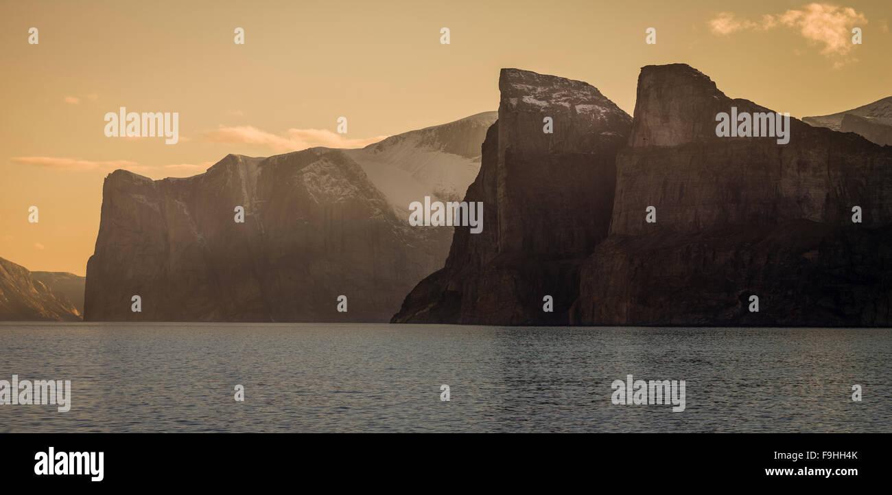 FEACHAM BAY    NORTHEAST FJORDS   BAFFIN ISLAND      CANADA - Stock Image