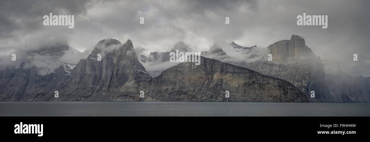 SAMFORD FJORD  NORTHEAST FJORDS  BAFFIN ISLAND     CANADA - Stock Image