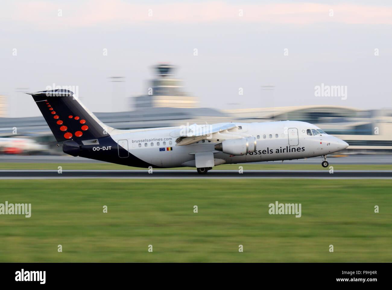 Brussels Airlines British Aerospace BAe - Stock Image