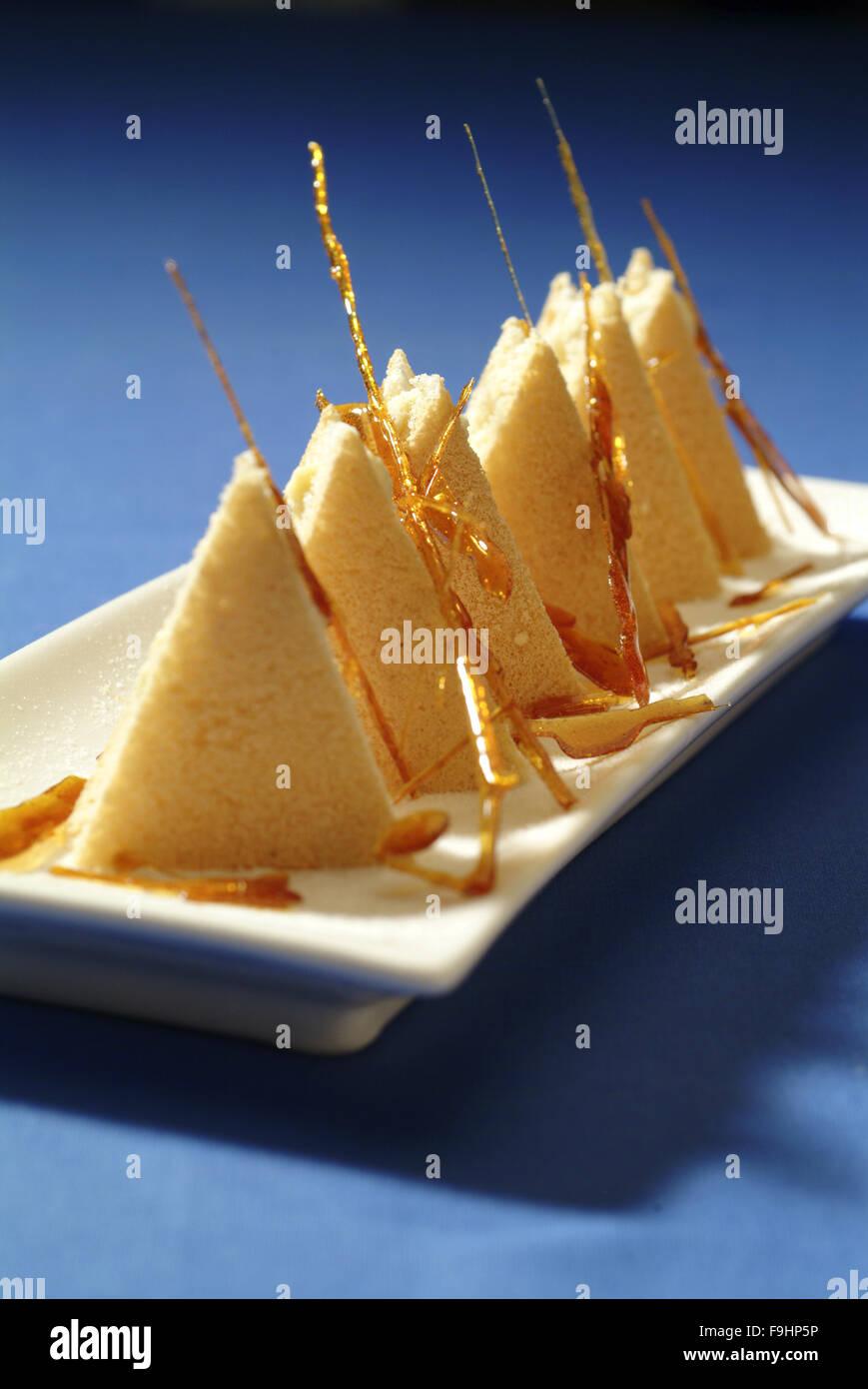 Caramel Triangles - Stock Image