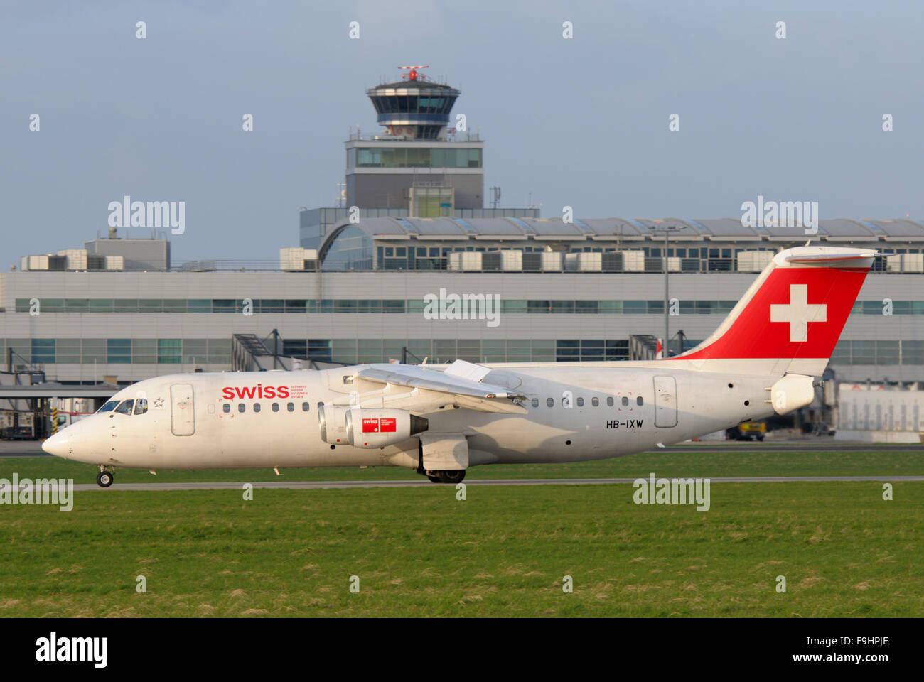 Swiss International BAe 146 - Stock Image