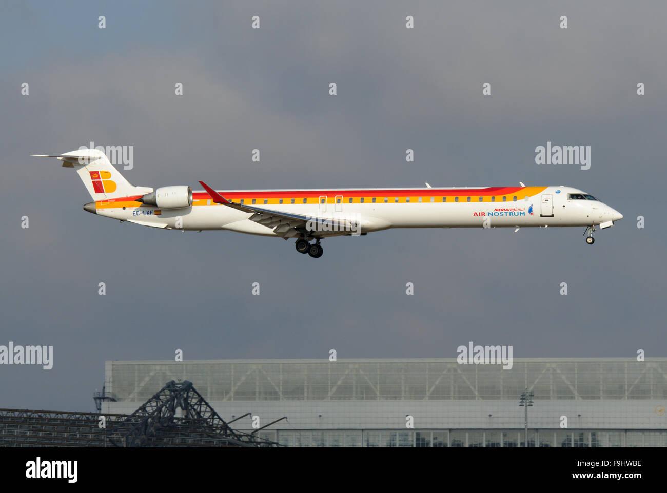 Canadair CL-600 (Regional Jet CRJ-1000) of Air Nostrum Flying for Iberia - Stock Image