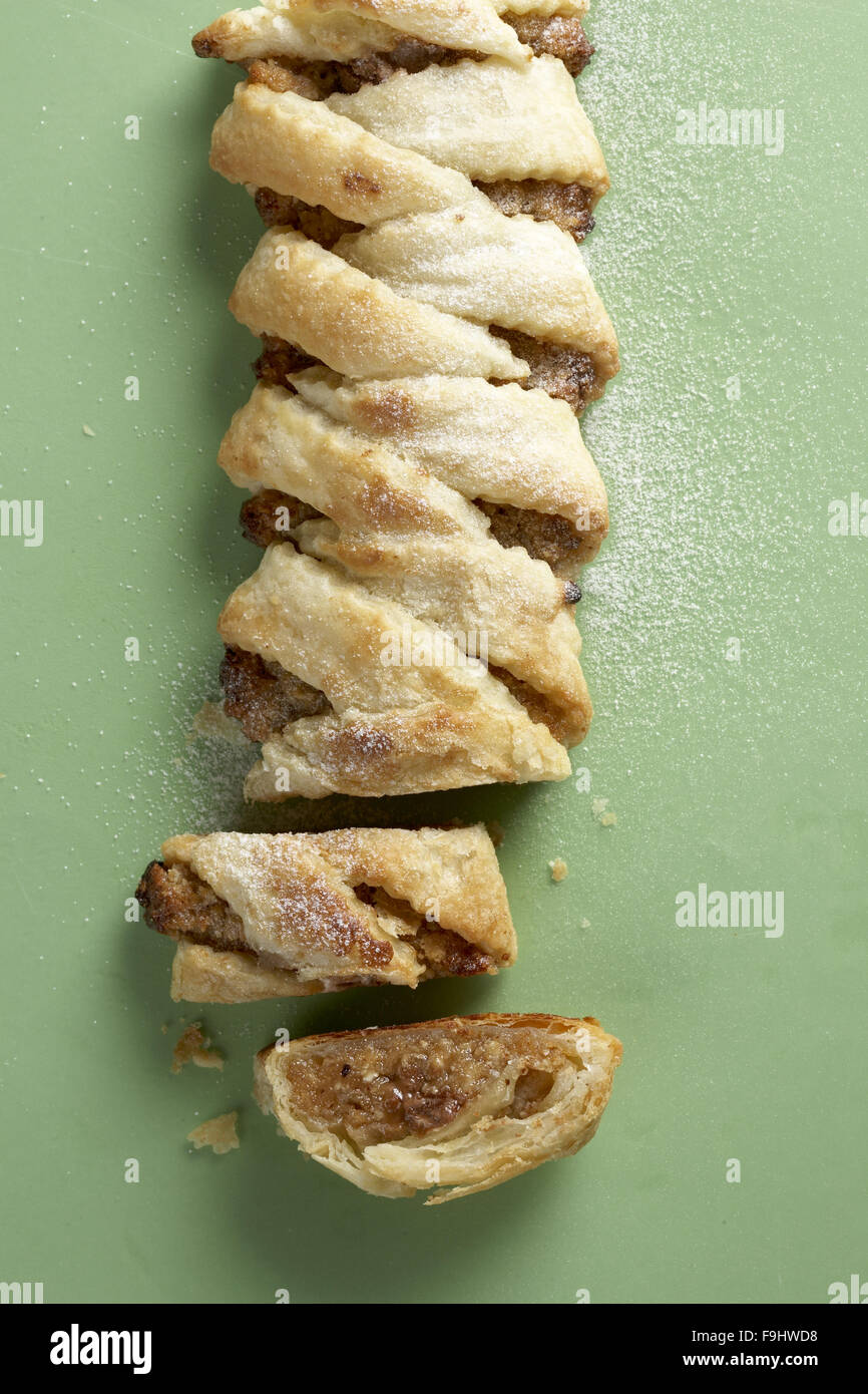 Strudel with Halva and Nuts - Stock Image