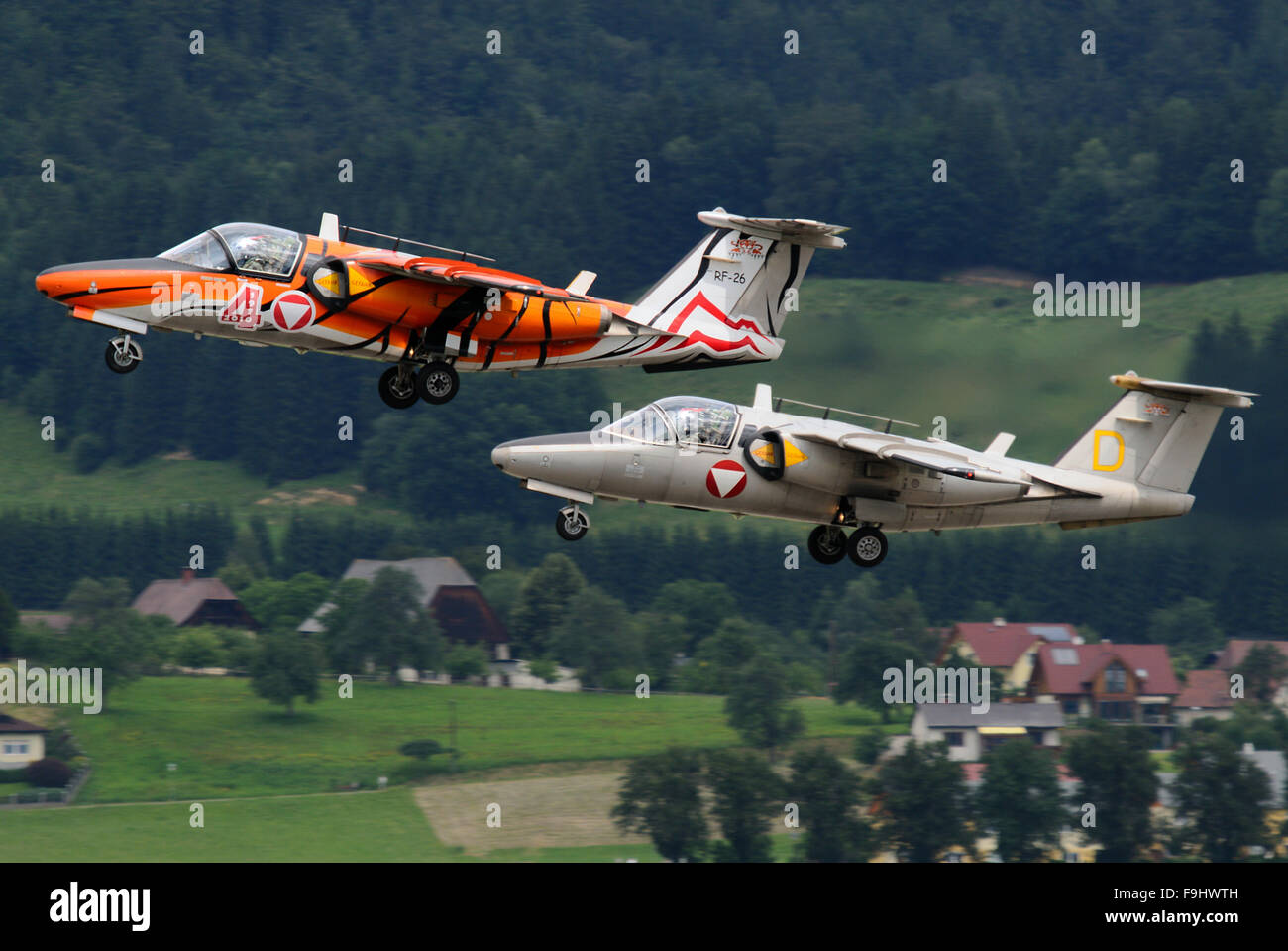 Austrian Air Force Saab 105 OE - Stock Image