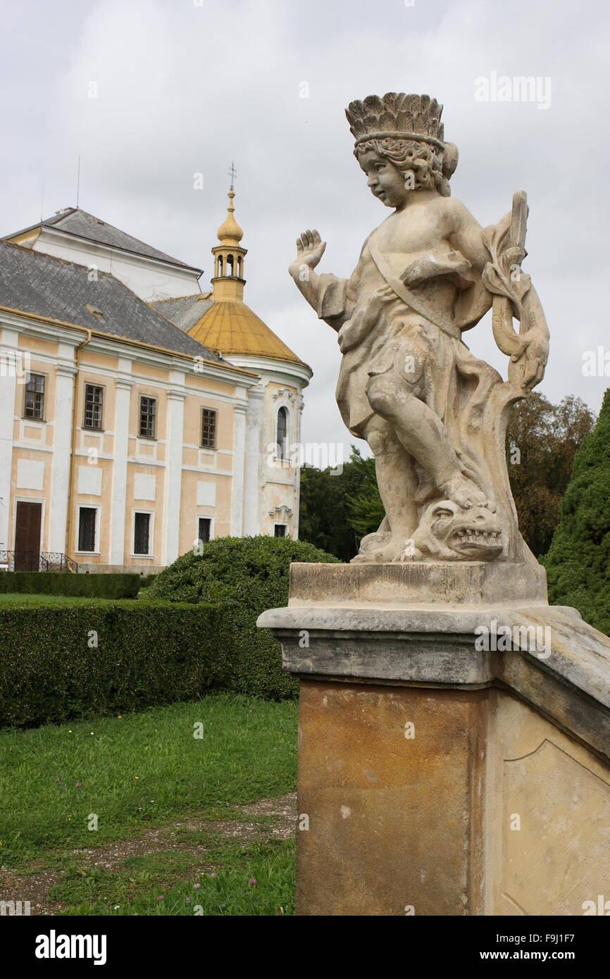 Castle, Lysa nad Labem, Czech Republic Stock Photo
