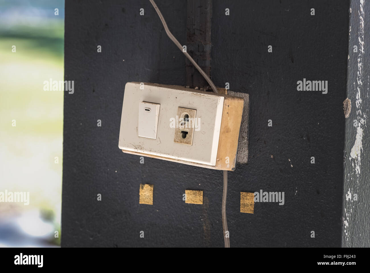 Switch Control Box Stock Photos Images Wiring Old Light Plastic Image