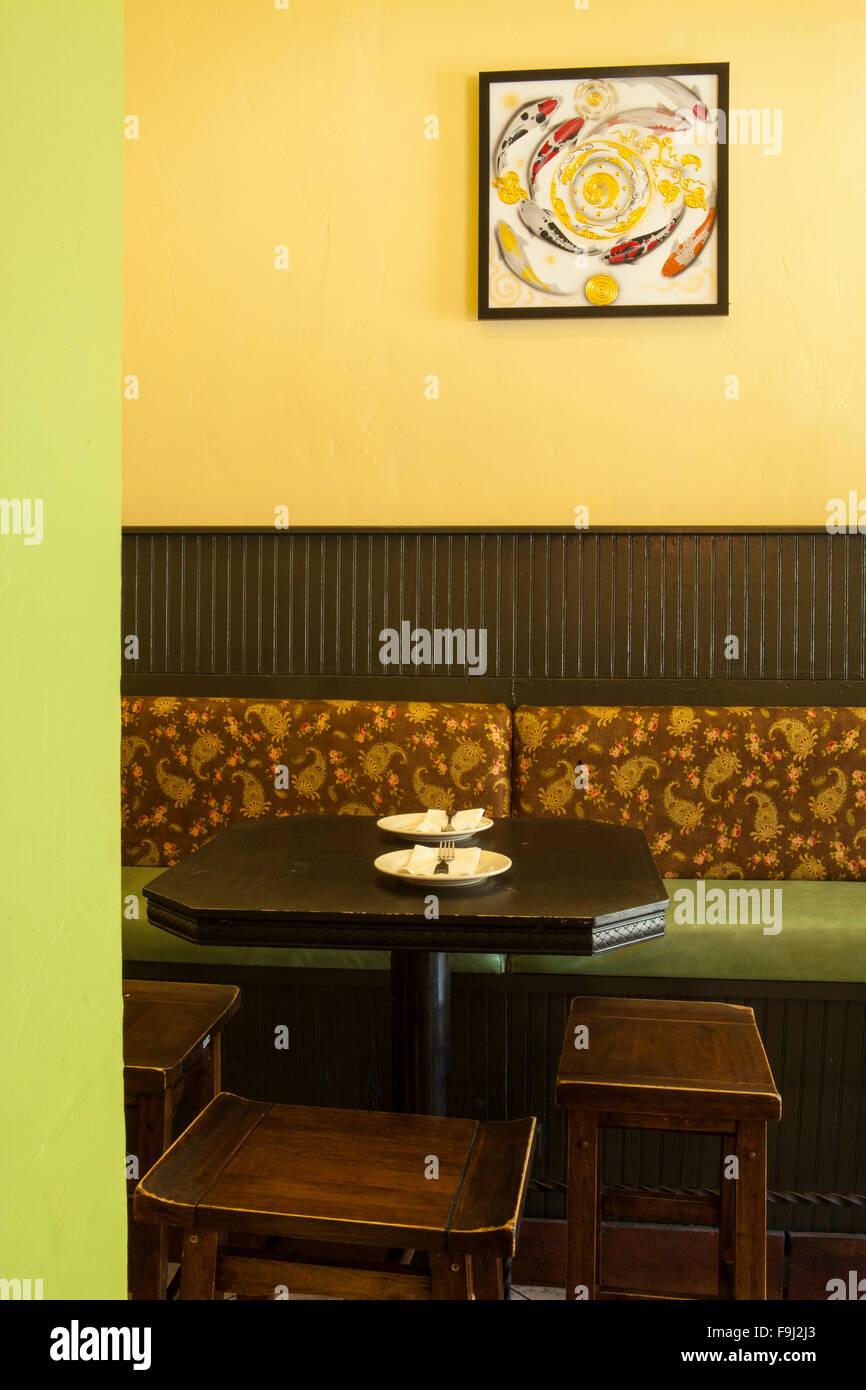 restaurant interior, Rice By Mama, Ventura, California - Stock Image