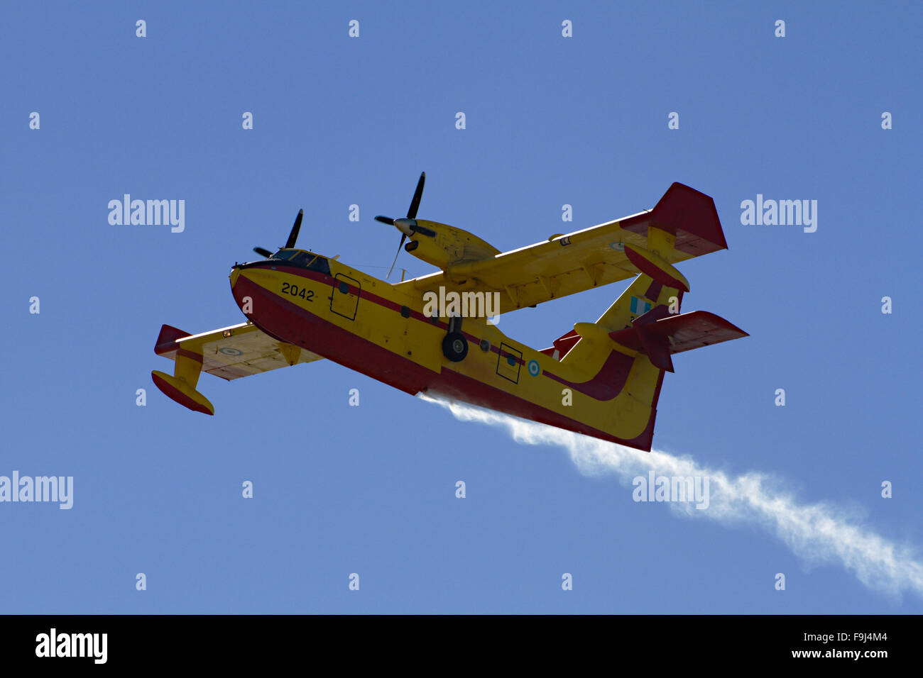 Extinguishing Aircarfts - Fire on Rhodos - Greece - Stock Image