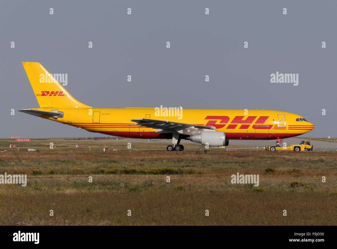Airbus A300F Freighter of DHL Cargo Stock Photo