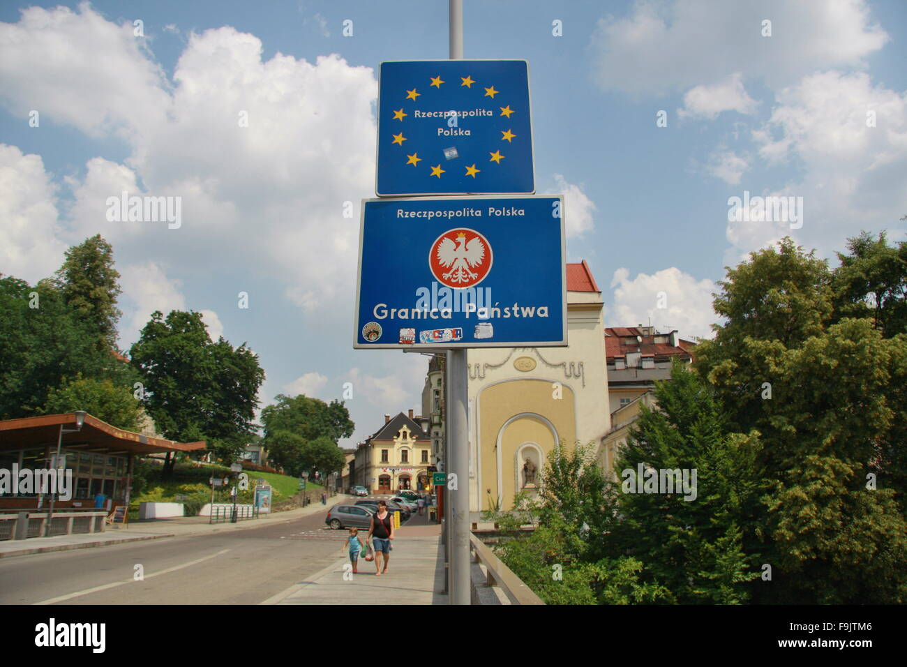 The state border, Poland - Stock Image