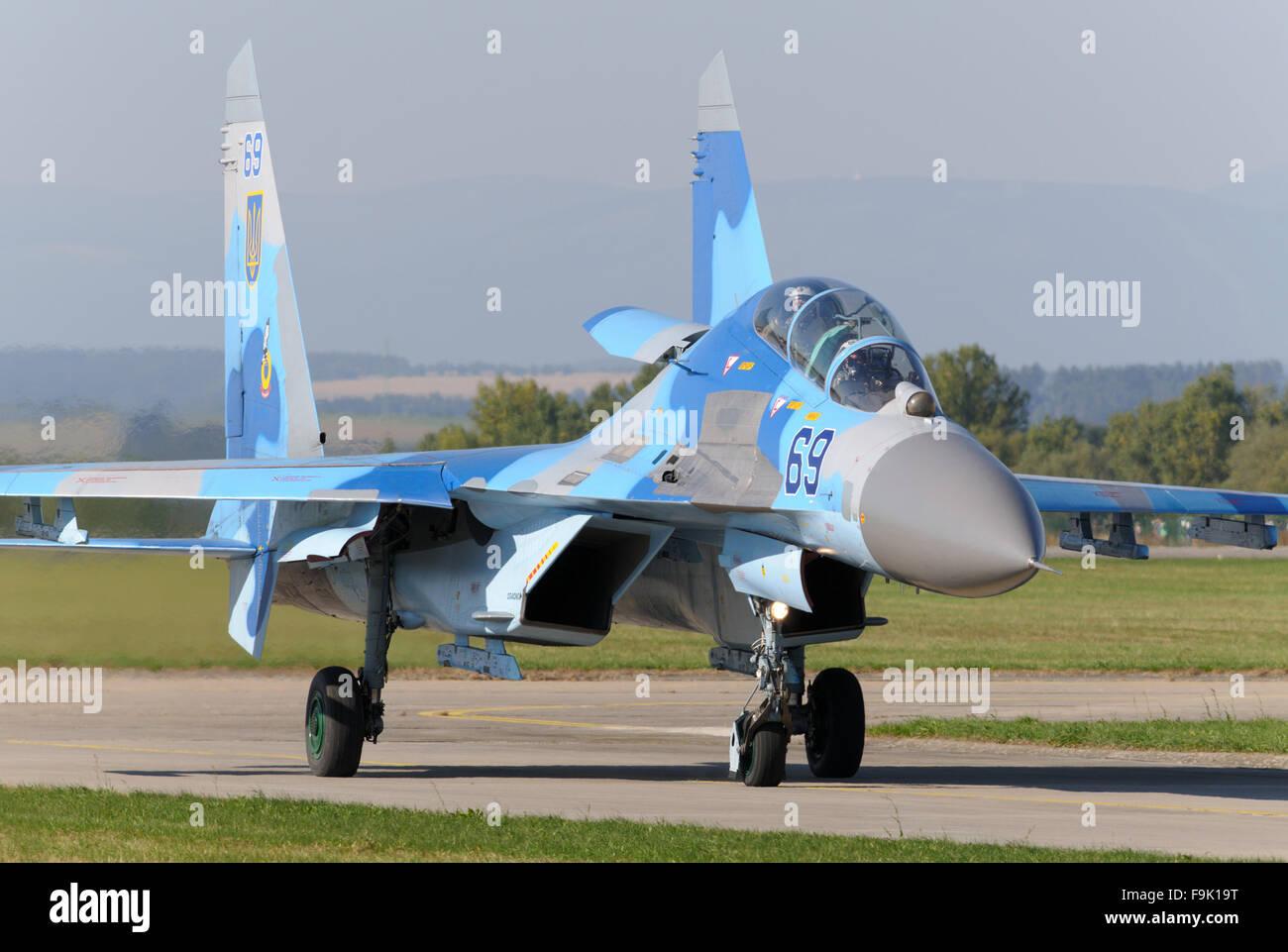 Ukraine Air Force Sukhoi Su-27 Stock Photo