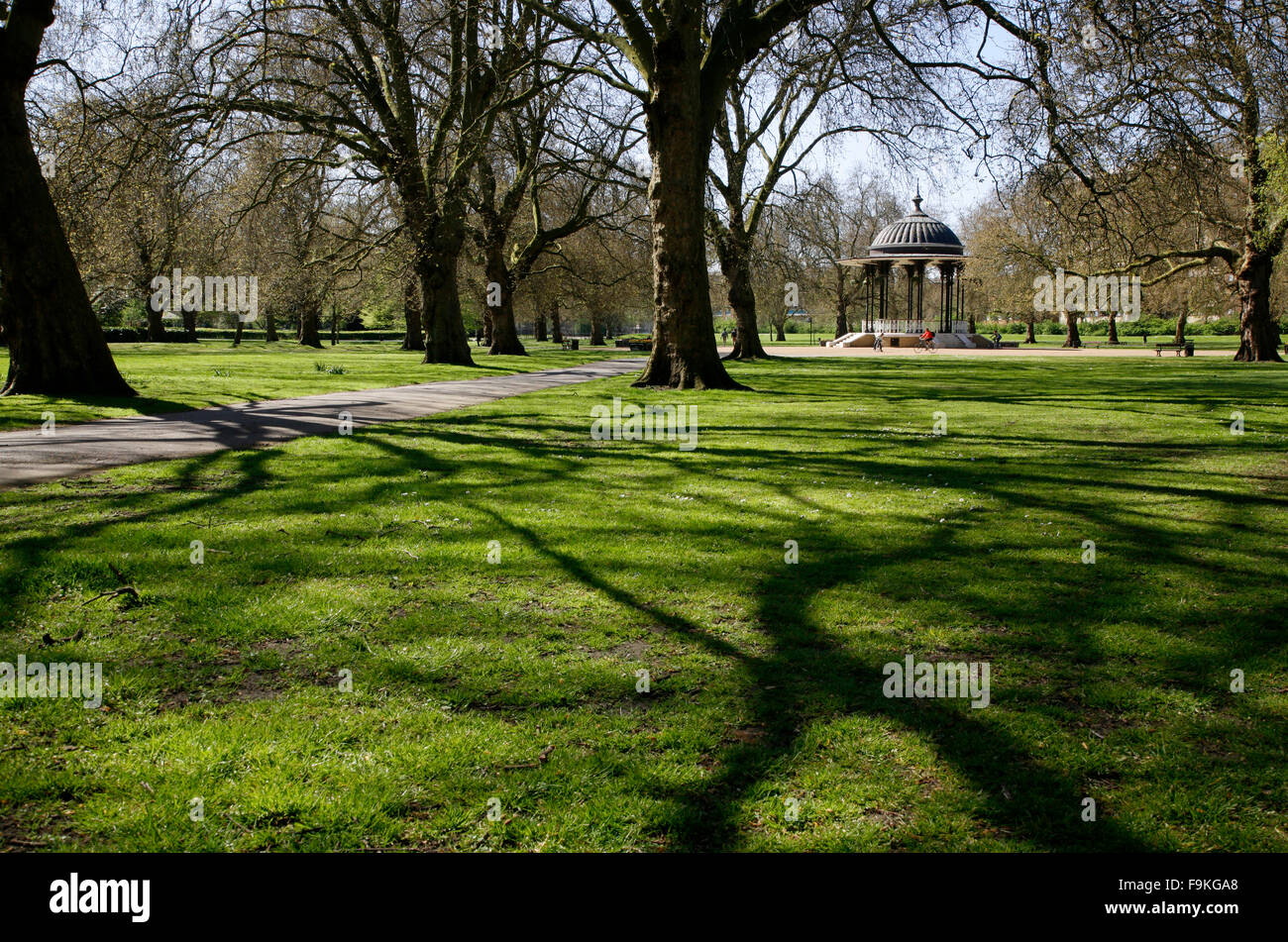 Bandstand in Southwark Park, Rotherhithe, London, UK - Stock Image