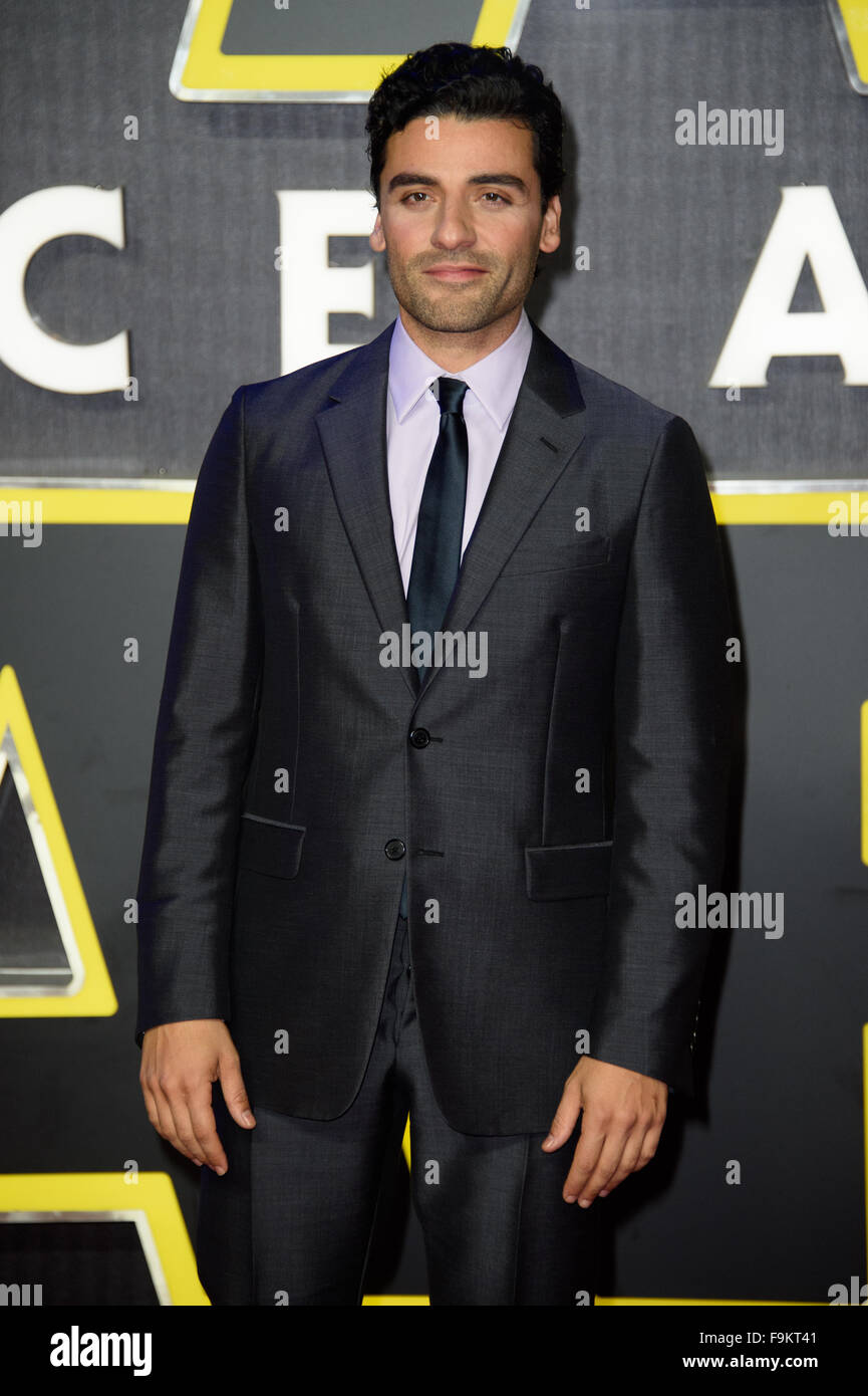 Oscar Isaac at the 'Star Wars: The Force Awakens ' premiere in London - Stock Image