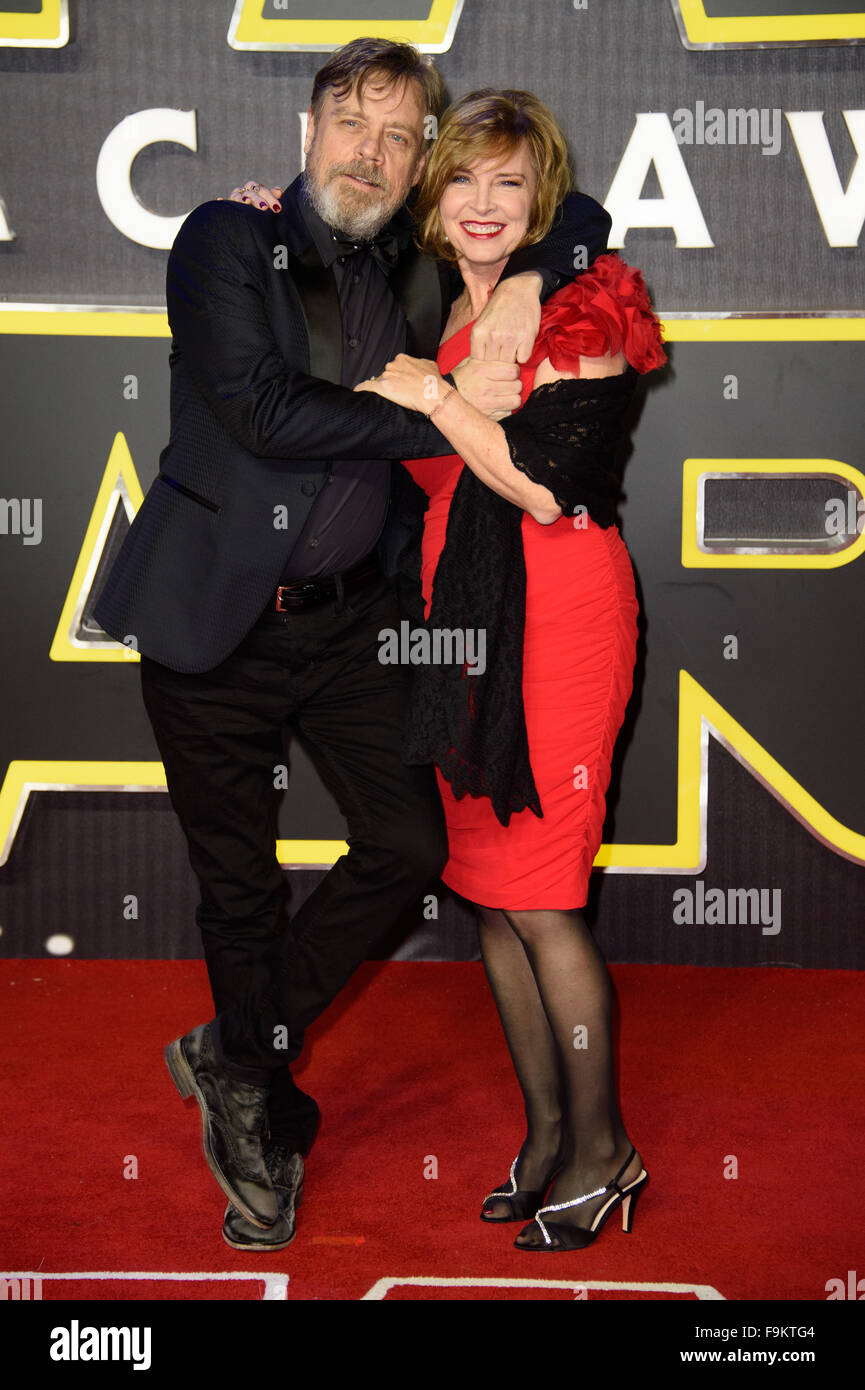 Mark Hamill And Marilou York At The Star Wars The Force Awakens Stock Photo
