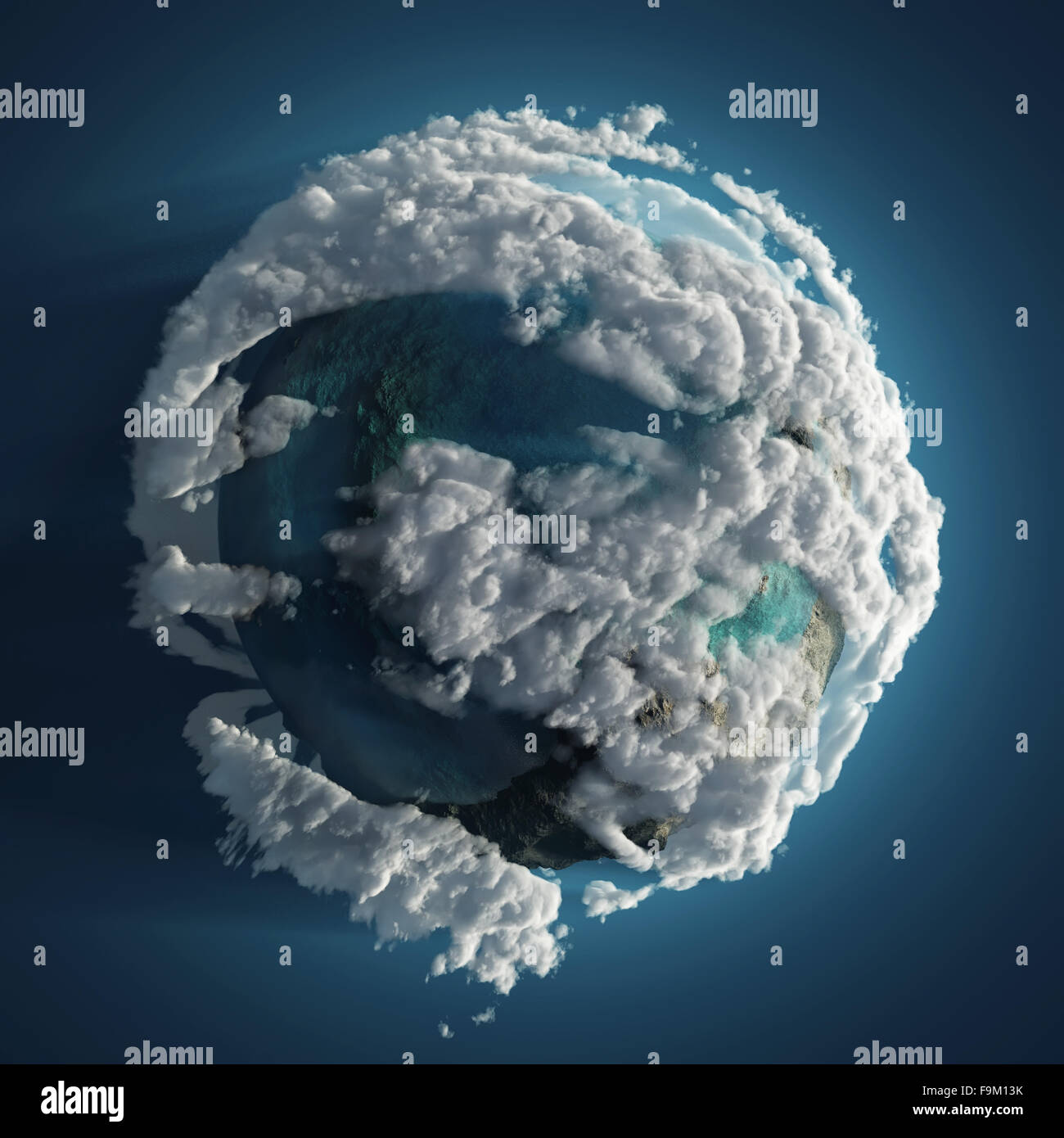clouds earth in space Stock Photo